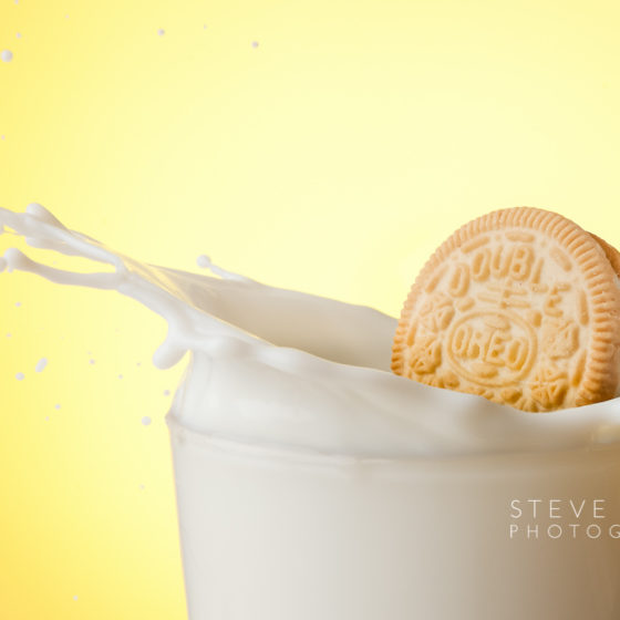 Golden Oreo milk splash